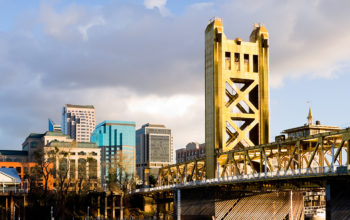 The Tower Bridge in Sacramento, California