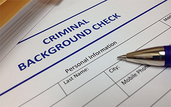 A criminal background check form